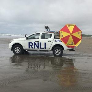 RNLI on Widemouth Bay - A Blue Flag beach